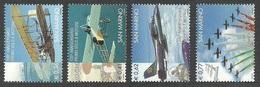 SAN MARINO 2004 AVIATION AIRCRAFT POWERED FLIGHT CENTENARY SET MNH - Solomon Islands (1978-...)