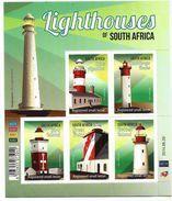 2014 South Africa Lighthouse Miniature Sheet Of 5 MNH - Phares