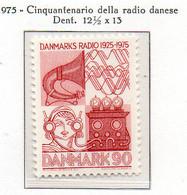 PIA - DANIMARCA -1975 : Cinquantenario Della Radio Danese  - (Yv 590) - Danimarca