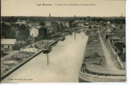 Dpt 35 Rennes Le Quai De La Prevalaye Et Le Quai Sait-Cyr 1910 Neuve EXT Tampon 5e Rg. Genie - Rennes