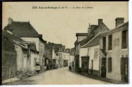 Dpt 35 Bain De Bretagne La Rue De Loheac Animee 1910 Neuve BE - Francia