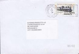 Spain INDUSTRIAS AL-GON, SANT FELIU DE LLOBREGAT 2001 Cover Brief ATM Frama Label Locomotive Train Zug Chemin - Marcofilia - EMA ( Maquina De Huellas A Franquear)