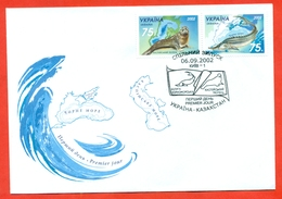 Ukraine  2002. Fauna. Ukraine-Kazakhstan.The Envelopes With Special Cancellation. New! - Joint Issues