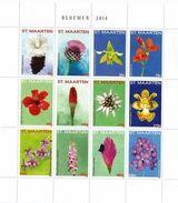 2014 St. Maarten Flowers Fleurs  Miniature Sheet Of 12 MNH @70% FACE VALUE - Curacao, Netherlands Antilles, Aruba