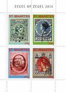 2014 St. Maarten Stamp On Stamps Philately  Miniature Sheet Of 4 MNH @70% FACE VALUE - Curacao, Netherlands Antilles, Aruba
