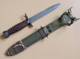 Baïonnette USM4 IMPERIAL à Poignée Bois, Période Guerre De Corée. - Armes Blanches