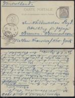 OCEANIE EP 10 C DE PAPEETE TAHITI 09/04/1903 VERS NEW-YORK (5G) DC-MV460 - Océanie (Établissement De L') (1892-1958)