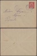 OCEANIE EP LETTRE 10 C DE  PAPEETE TAHITI 30/10/1896 VERS PAPEETE (5G) DC-MV471 - Océanie (Établissement De L') (1892-1958)