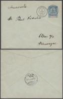 OCEANIE EP 15 C DE PAPEETE TAHITI 01/12/1893 VERS ALLEMAGNE (5G) DC-MV477 - Océanie (Établissement De L') (1892-1958)