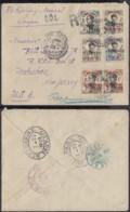 """INDOCHINE TP MONG-TZEU SUR LETTRE RECO DE SAIGON 1923 VERS USA VERSO """" KOBE 2 JAPON"""" (5G) DC-MV482 - Lettres & Documents"""