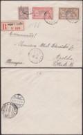 PORT-SAID EGYPTE Yv 29+30+31 SUR LETTRE RECOMMANDE 28/02/1911 VERS ALLEMAGNE (5G) DC-MV494 - Port Said (1899-1931)