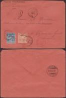 PORT-SAID EGYPTE Yv 9+13 SUR LETTRE RECOMMANDE DE PORT-SAID 01/11/1907 VERS SUISSE (5G) DC-MV498 - Port-Saïd (1899-1931)