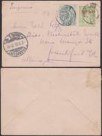 PORT-SAID EGYPTE EP 5c+Yv24 DE PORT-SAID 04/11/1905 VERS ALLEMAGNE (5G) DC-MV503 - Port Said (1899-1931)