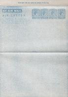 Ceylon Postal Stationery Ganzsache Entier Air Letter Aerogramme 10c. + 10c. + 10c. + 5c. GVI. (Unused) - Sri Lanka (Ceylon) (1948-...)