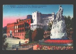 Monaco - Le Palais Du Prince - Monument Commémoratif Du 25me Anniversiare De S.A.S. Le Prince Albert Ier - 1938 - Palais Princier