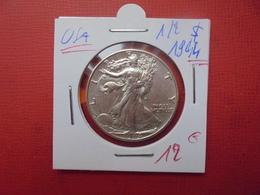 U.S.A 1/2 $ 1944 ARGENT - 1916-1947: Liberty Walking