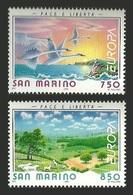 SAN MARINO 1995 EUROPA PEACE FREEDOM BIRDS SWANS SHEEP SET MNH - Solomon Islands (1978-...)