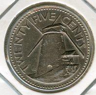 Barbades Barbados 25 Cents 1978 KM 13 - Barbades