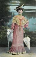 FANTAISIE  - FEMME  ET CHIEN  - FRAU - LADY  - DOG - Femmes