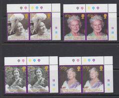 South Georgia 2002 Queen Mother 4v (pair, Corner)  ** Mnh (41714E) - Zuid-Georgia