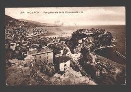 Monaco - Vue Générale De La Principauté - Carte Photo - 1924 - Monaco