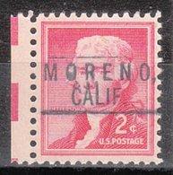 USA Precancel Vorausentwertung Preo, Locals California, Moreno 801 - Estados Unidos