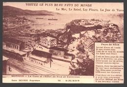 Monaco / Principauté De Monaco - Carte Postale De L'Hôtel De Nice - Visitez Le Plus Beau Pays Du Monde - Pub. - Hôtels