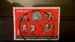 FRANCOBOLLI STAMPS GIAMAICA JAMAICA 1962 USED CARIBBEAN GAMES CENTRAL AMERICAN - Giamaica (1962-...)