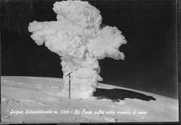 GRIGNA SETTENTRIONALE - LA CROCE COPERTA DI NEVE - BROMOFOTO MILANO - VIAGGIATA 1964 DA ESINO LARIO (ANNULLO CONALBI) - Alpinisme