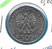 Polen 500 Zloty 1989 - KM 194 - Pologne