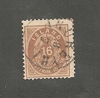 1875 16 Aur Braun. 12.3/4  Used    (is047) - Oblitérés
