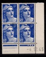 Coin Daté YV 720 N** Gandon Du 4.12.45 - 1940-1949