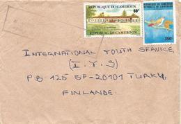 Cameroun Cameroon 1993 Douala Townhall Bird UPU Slogan Handstamp Cover - Kameroen (1960-...)