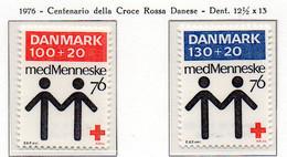 PIA - DANIMARCA -1976 : Centenario Della Croce Rossa Danese  - (Yv  617-18) - Primo Soccorso
