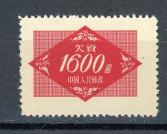 CHINE - T. TAXE - N° Yt T 115 (*) - 1949 - ... Volksrepubliek