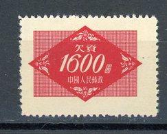 CHINE - T. TAXE - N° Yt T 115 (*) - 1949 - ... République Populaire