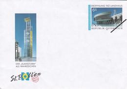 Austria 1996 Specimen Postal Envelope 6s. Eröffnung Nö Landhaus, St Polten - Entiers Postaux