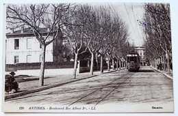 CPA 06 Antibes Tramway Boulevard Roi Albert Premier - Antibes