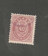 1882 40 Aur Lilla. 12.3/4                 (is052) - Oblitérés