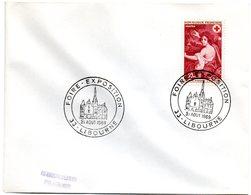 CACHET TEMPORAIRE Illustré = 33 LIBOURNE 1969 = FOIRE EXPOSITION Sur ENVELOPPE ENTIERE - Marcofilia (sobres)