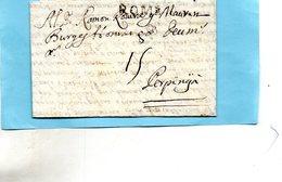 """Linéaire """"ROME"""",bureau Français,Lenain N°3,17/8/1732,taxe 15, - Poststempel (Briefe)"""