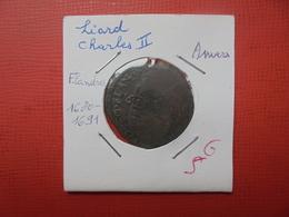 PAYS-BAS ESPAGNOLS CHARLES II. LIARD 1680-1691 ANTWERP (A.2) - Belgique