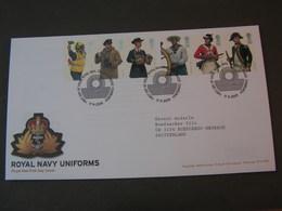 GB FDC 2009 Uniformen 2797-2802 - FDC