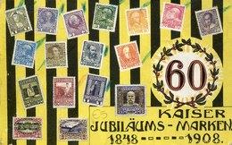 41852 Austria, Circuled Card 1908  To Firenze, Special Card For Kaiser Jubilaums Marken 1848-1908 - 1850-1918 Empire