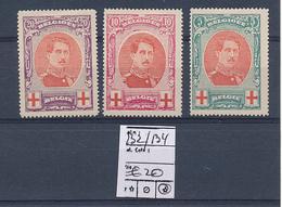 BELGIUM COB  132/134 LH - 1914-1915 Red Cross