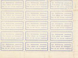 343/28  --  RARE Etiquettes-Motifs TRILINGUES (All. FR. NL)  Neuves Avec Gomme - Bloc De 15 Bord De Feuille - Documents Of Postal Services