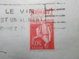 Marcophilie  Cachet Lettre Obliteration -  Timbre N°283 Bande Publicitaire - 1933 (2187) - Marcophilie (Lettres)