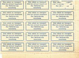 344/28  --  RARE Etiquettes-Motifs TRILINGUES (All. FR. NL)  Neuves Avec Gomme - Bloc De 15 Bord De Feuille - Documents Of Postal Services