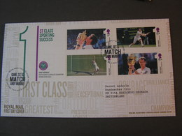 GB FDC 2013  Sports Tenis - Blocks & Kleinbögen