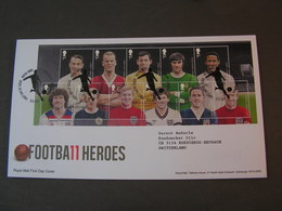 GB FDC 2013  Sports Football Heroes - Blocks & Kleinbögen